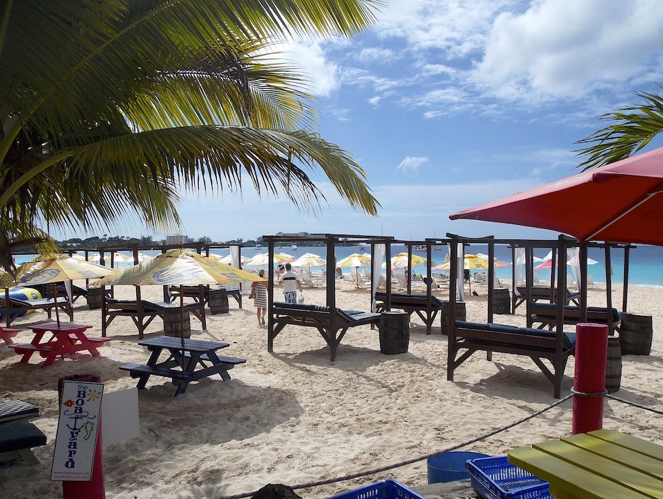 Taking a day off at the Boatyard Beach Bar Bridgetown  Barbados