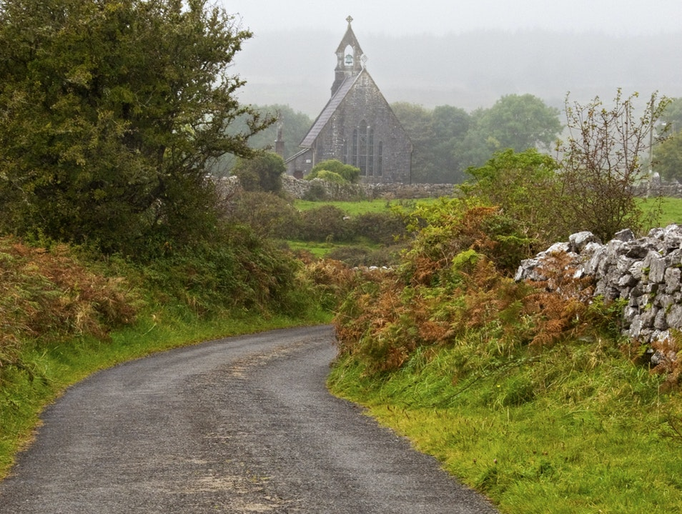 Tiny Church in The Burren - Ireland Corofin  Ireland