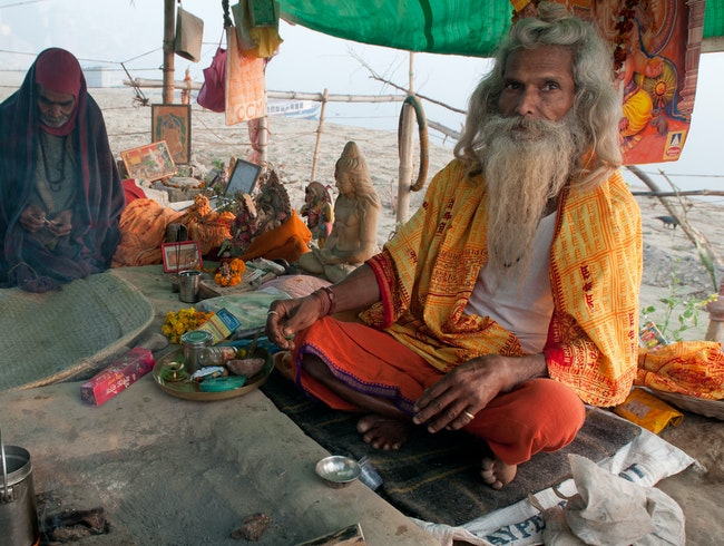 Rituals: Holy Man Making Tea