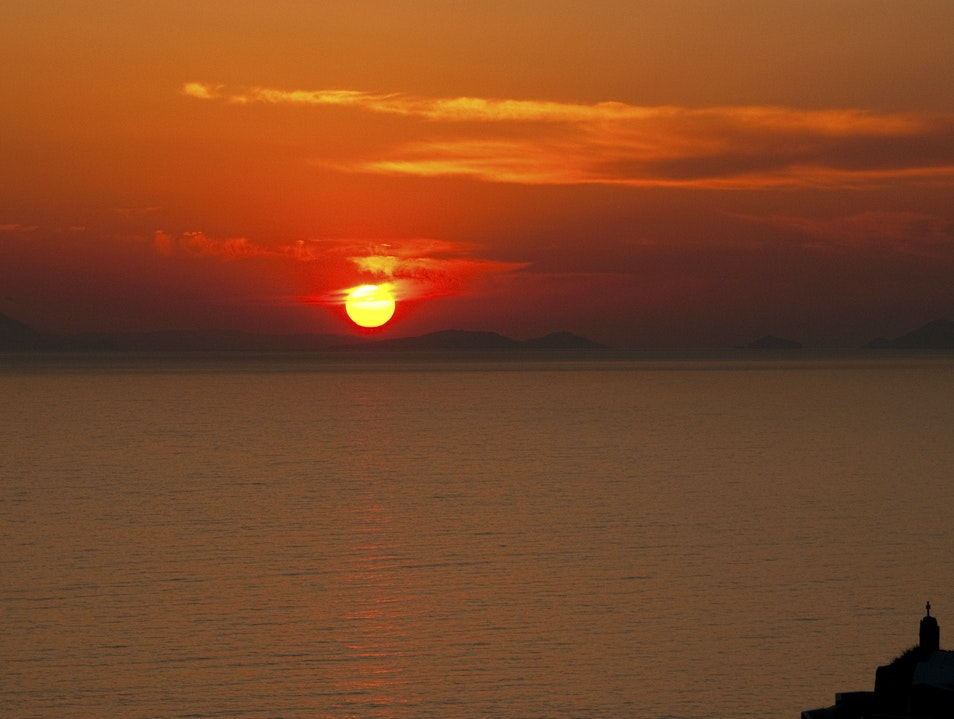 Fiery Oia Sunset