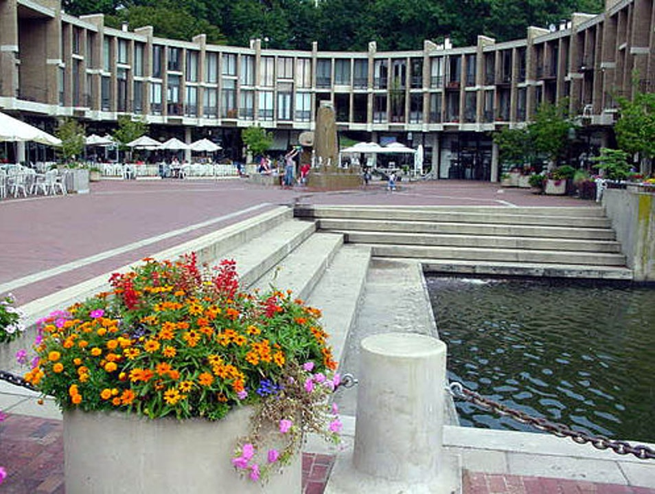 Strolling through Lake Anne Plaza Reston Virginia United States