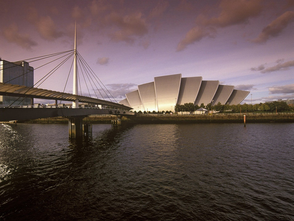 River Clyde Waterfront: Pacific Quay Glasgow  United Kingdom