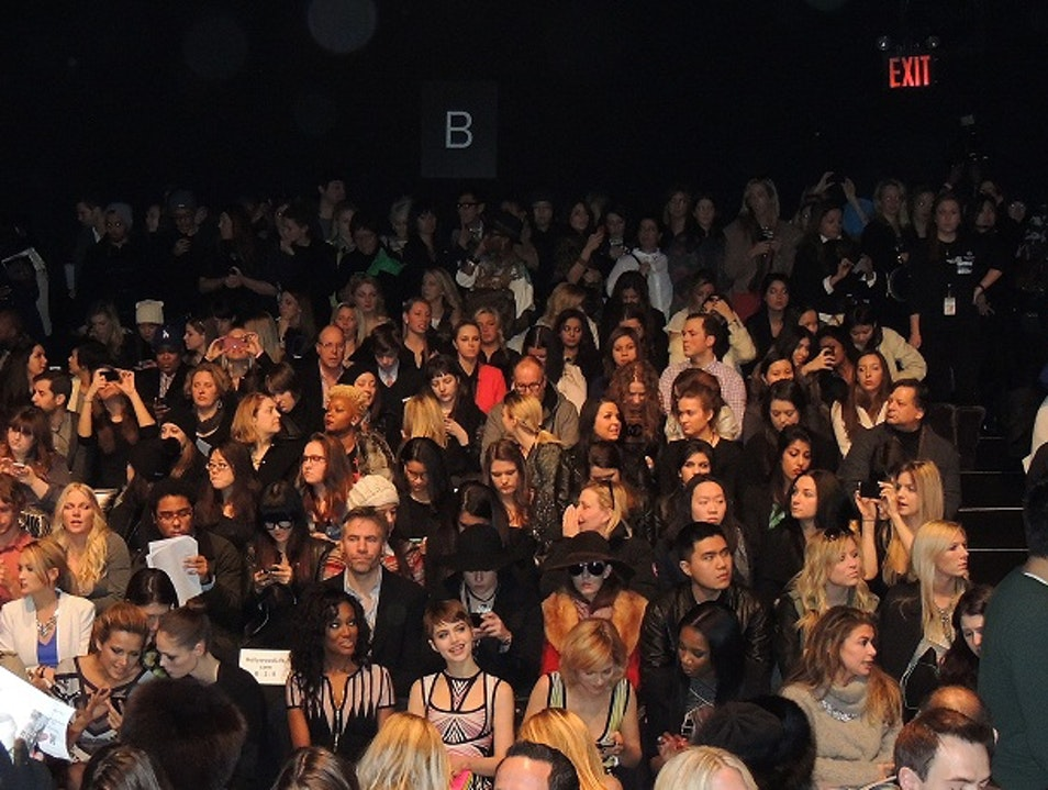 Mercedes-Benz Fashion Week: Front of House at Hervé Léger New York New York United States