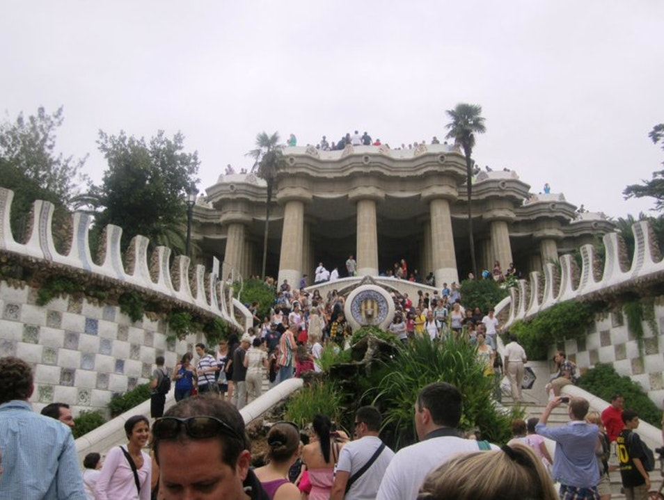 Exploring Park Guell Barcelona  Spain