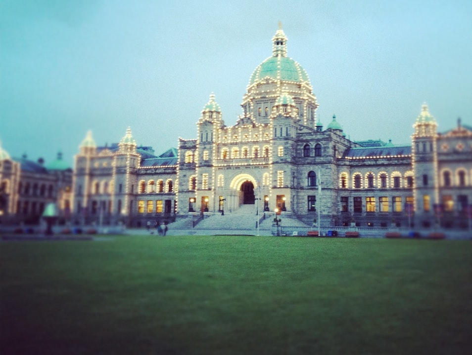 Night Time in Victoria Victoria  Canada