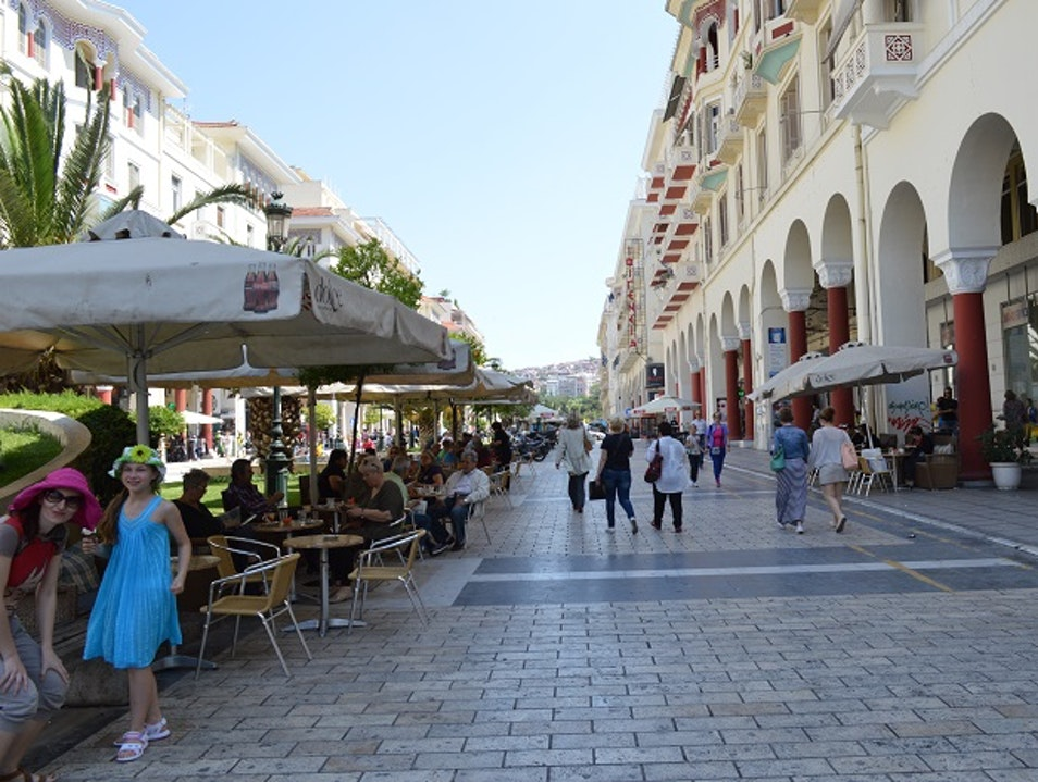 Pictures of Street Scenes Near Aristotle Square Thessaloniki  Greece