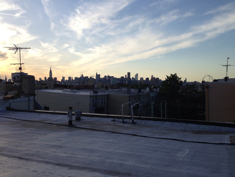 Summer Nights and Brooklyn Roof Tops  New York New York United States