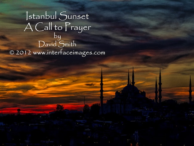 Istanbul Sunset—A Call to Prayer