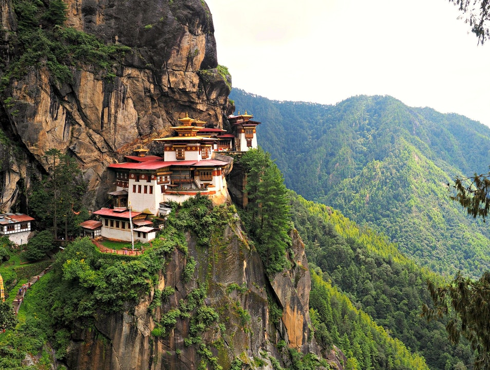 Hiking to Tigers Nest Monastery Paro  Bhutan