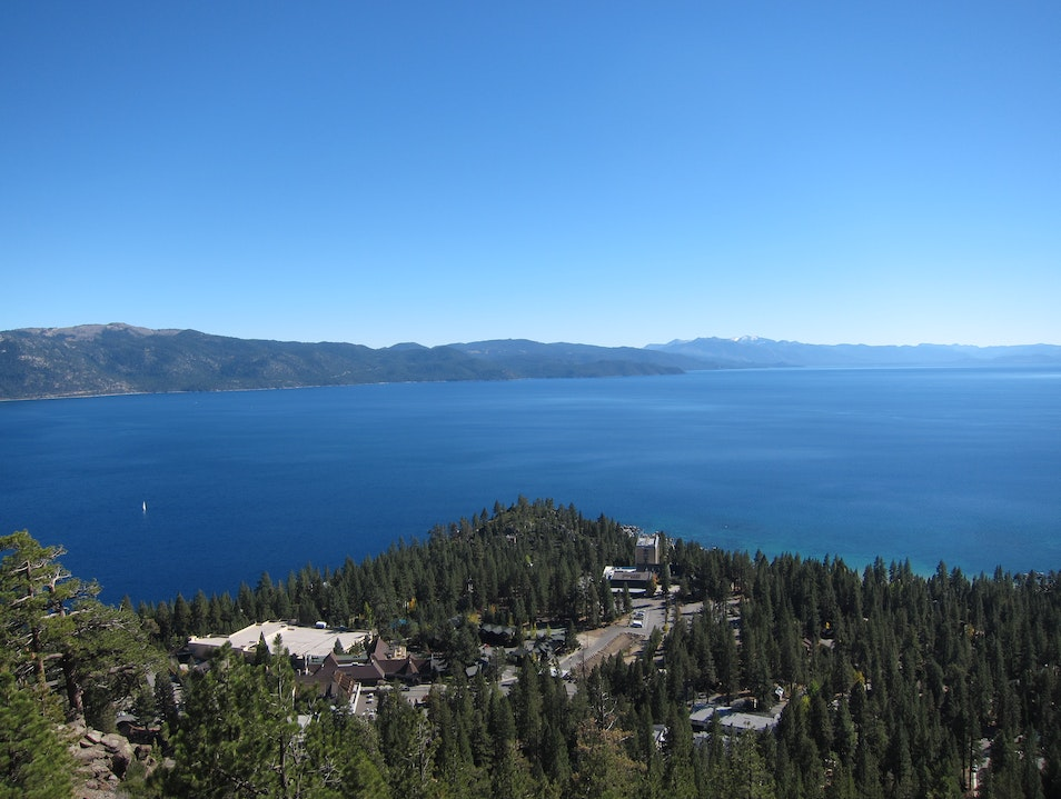 State Line hike overlooking the Crystal Bay Incline Village Nevada United States