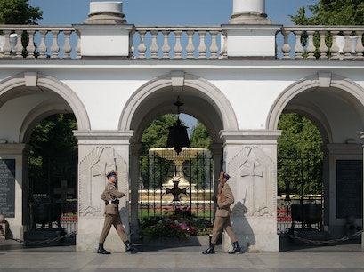 Tomb of the Unknown Soldier Warsaw  Poland