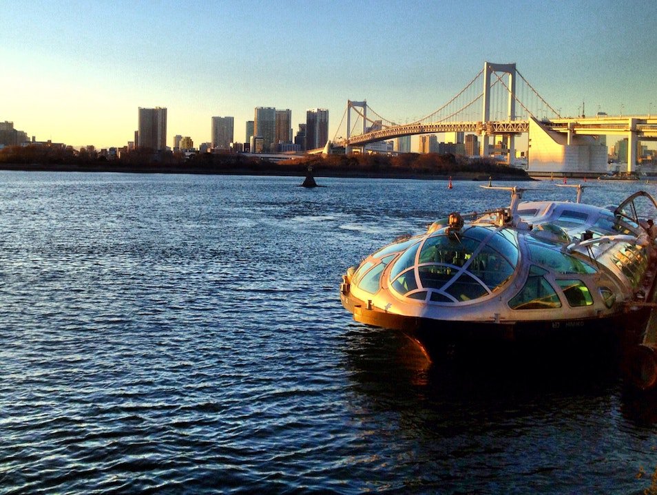 The Boat to Odaiba Koto City  Japan