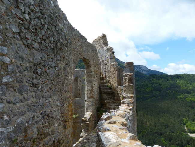 Explore the Ruins at Puilaurens, a Medieval Cathar Castle