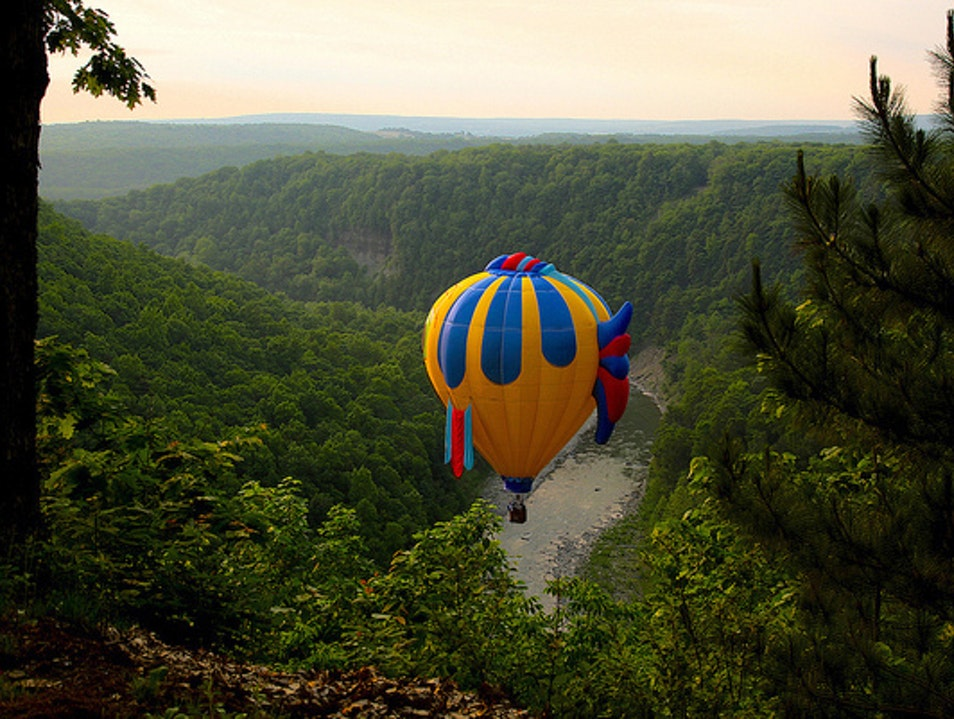 Balloons over Letchworth Castile New York United States