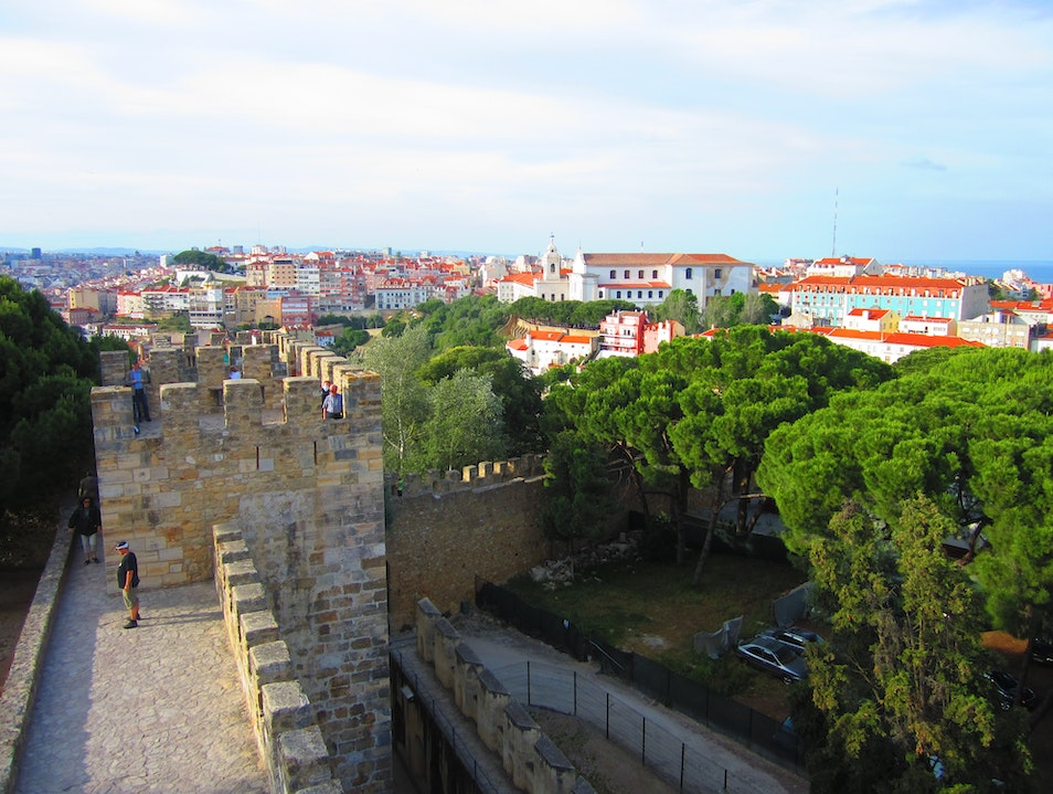 A Castle Perched Above Lisbon Lisbon  Portugal