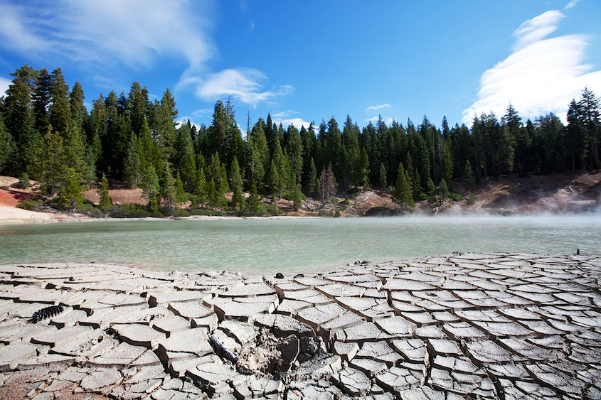 Lassen Volcanic National Park is filled with lakes and meadows as well as with hydrothermal sites.
