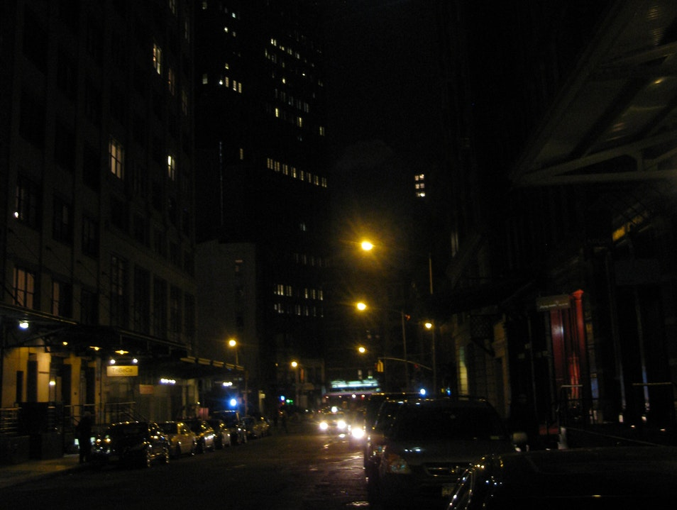 golden street lights & a silver moon New York New York United States