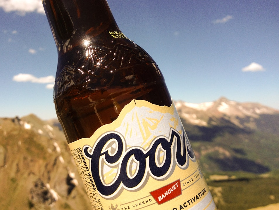 Crack a Coors on (or near) Wilson Peak, Mountain on Label Telluride Colorado United States