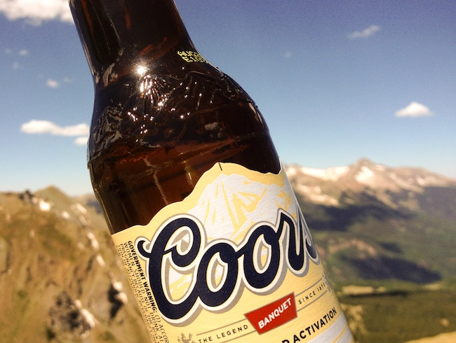 Crack a Coors on (or near) Wilson Peak, Mountain on Label