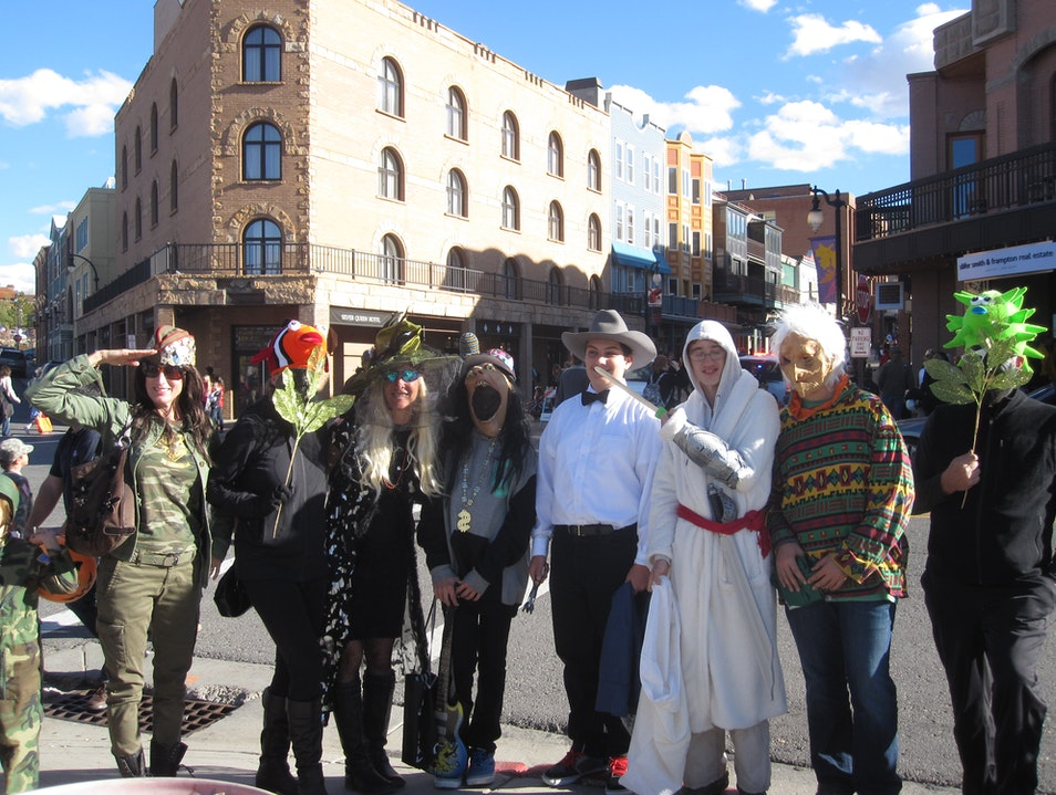 Halloween on Main Street Park City Utah United States