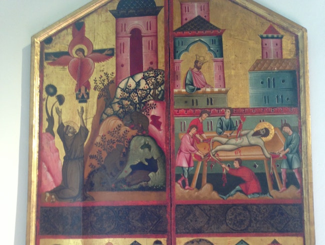 Sienese Gold Made into Paintings