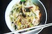 Breakfast on a cold bowl of Nom Banh Chok