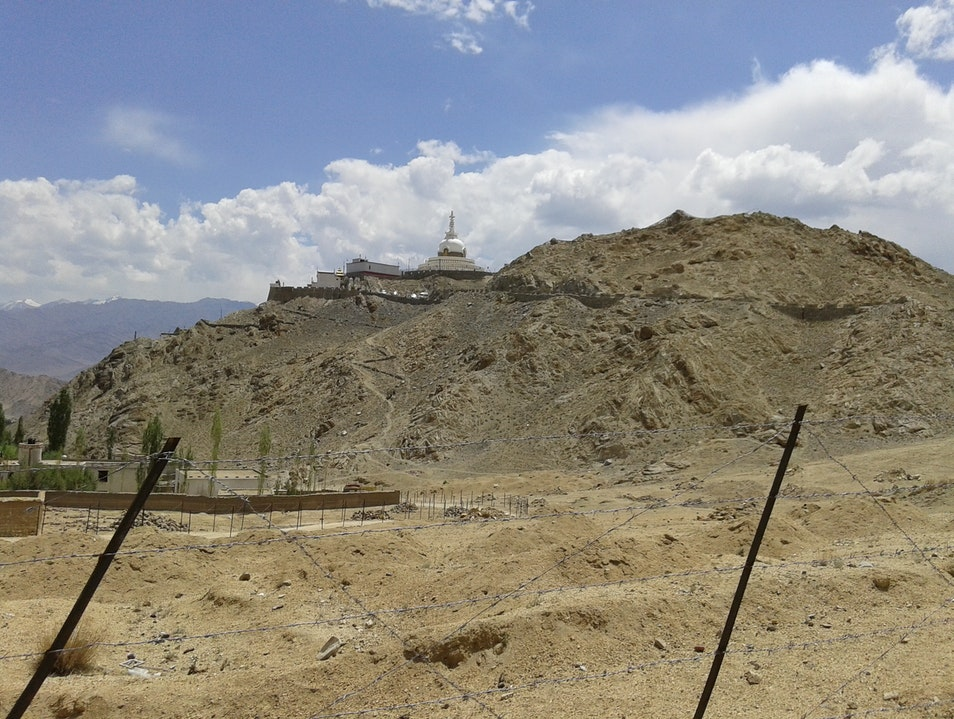 Temple in Leh, Shanti Stupa   Earth