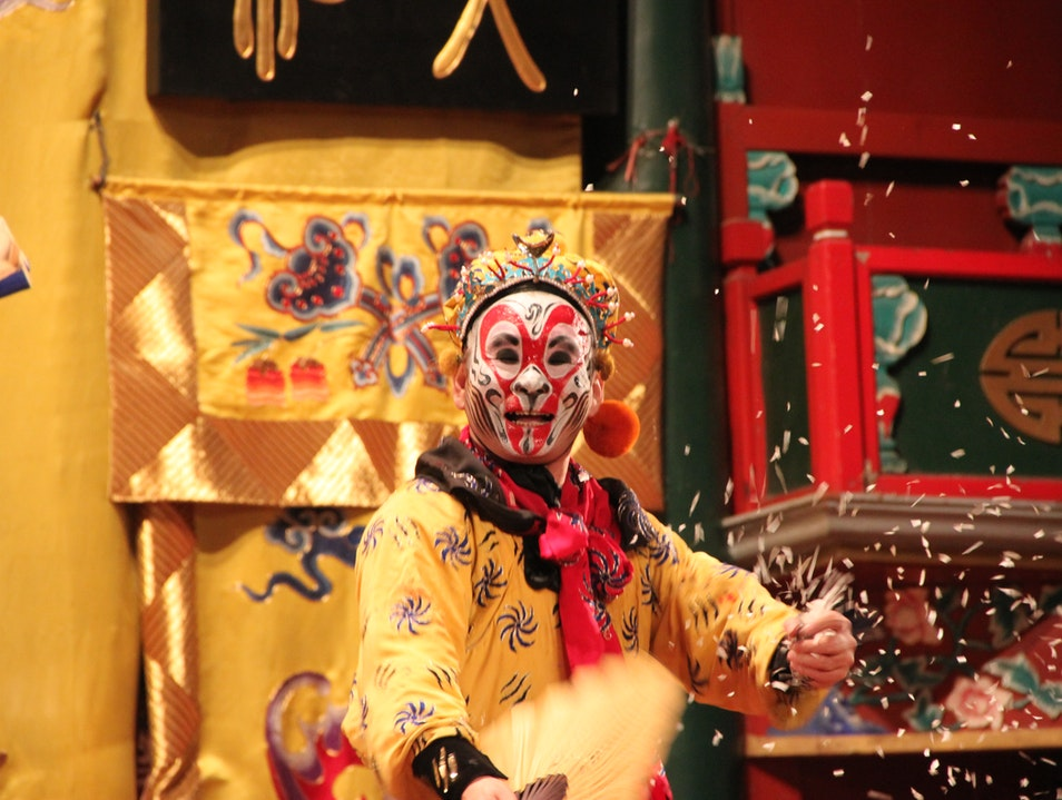 """Monkey King Wreaks Havoc in Hell"" at the Peking Opera Beijing  China"