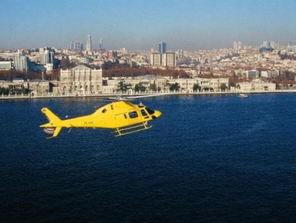 Soar Above Istanbul in a Helicopter Istanbul  Turkey