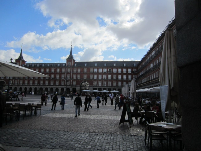 Beautiful Square in Madrid