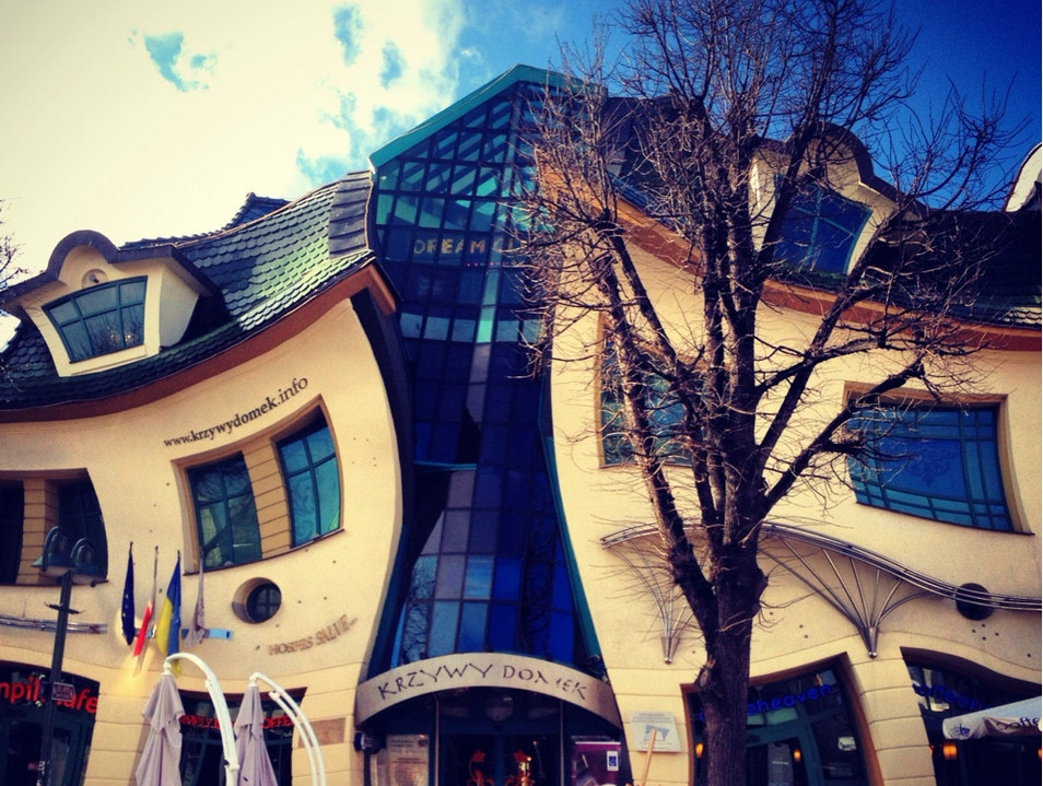 The Unvertical Or Better Yet ... The Drunken House.  Sopot  Poland