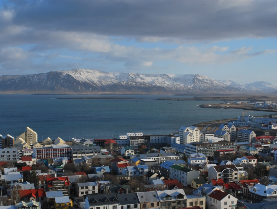 Looking Out Over Reykjavik from the Top of Hallgrimskirkja Reykjavik  Iceland