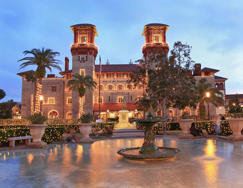 Spanish colonial–styled St. Augustine is the oldest continuously occupied city in the United States, dating to 1565.