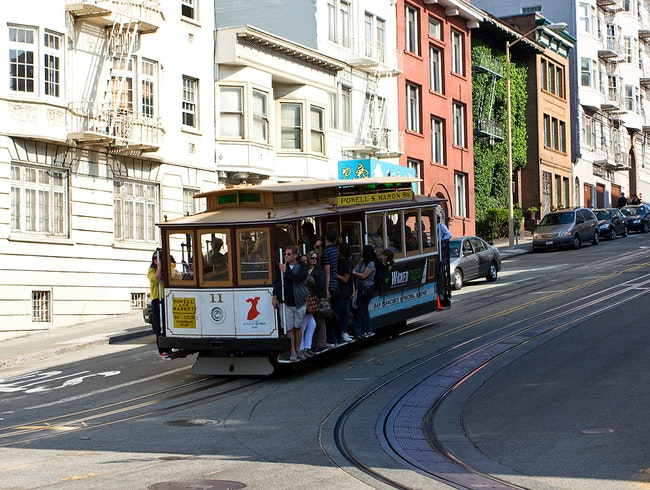 One of the famous trolleys of San Francisco