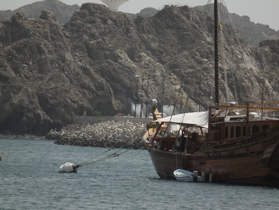 View from the Dhow Cruise Muscat  Oman