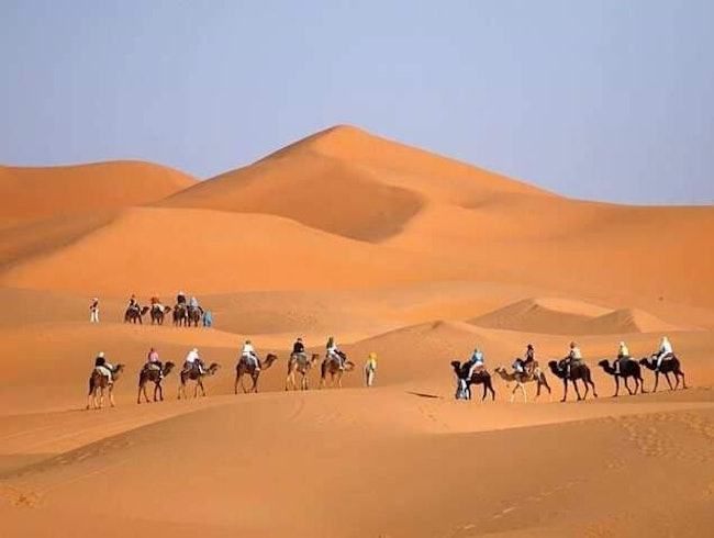 Camel trekking 1 night in Merzouga desert
