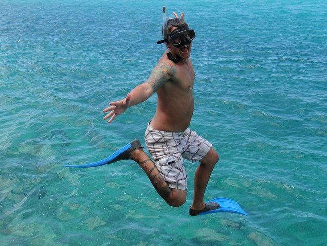 Jump in the South Pacific