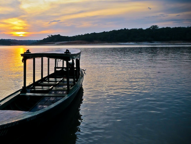 Sunset at the Amazon, Brazil