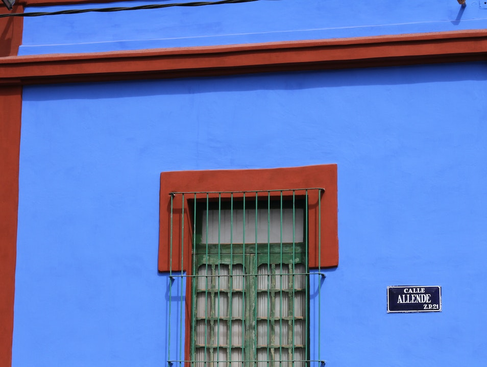 The Frida Kahlo Museum in Coyoacan Mexico City  Mexico