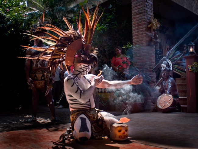 Great Traditional Mexican Performances and Food in a Rural Town Near Mazatlan