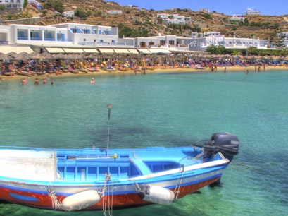 Paradise Beach Mykonos  Greece