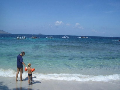 Blue Lagoon Beach Manggis  Indonesia