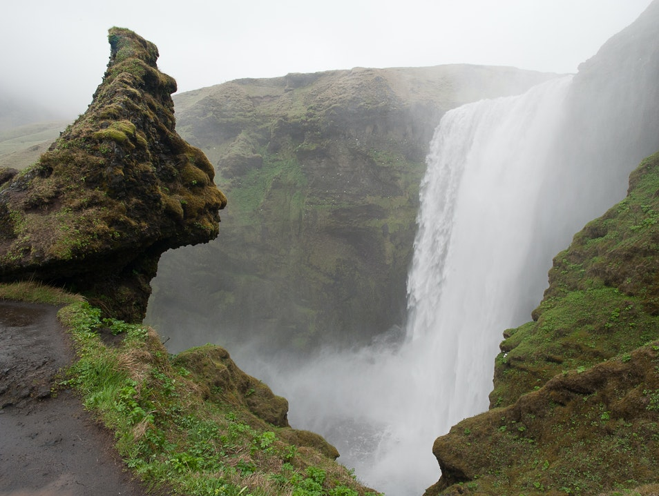 Waterfall on Southern Coast of Iceland Vik  Iceland