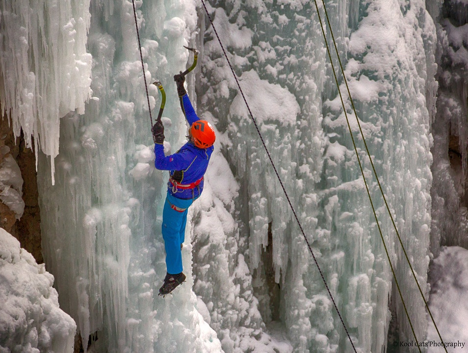 Ice Climbing in Ouray Ridgway Colorado United States