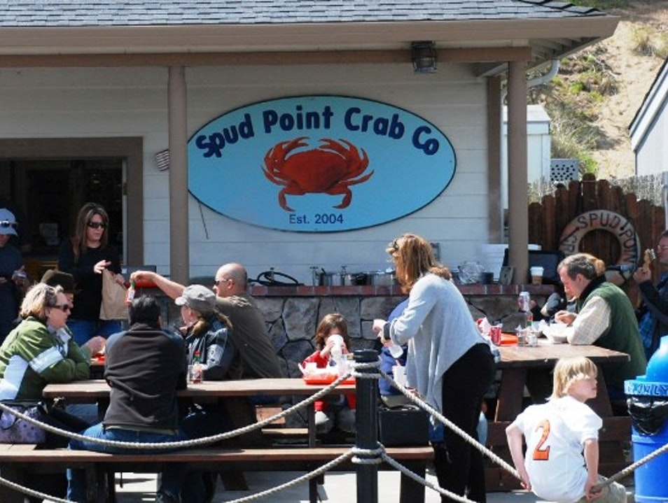 Enjoying Fresh Crab on the California Coast Bodega Bay California United States