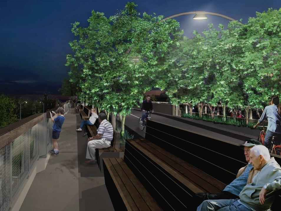 An Elevated Park in Chicago