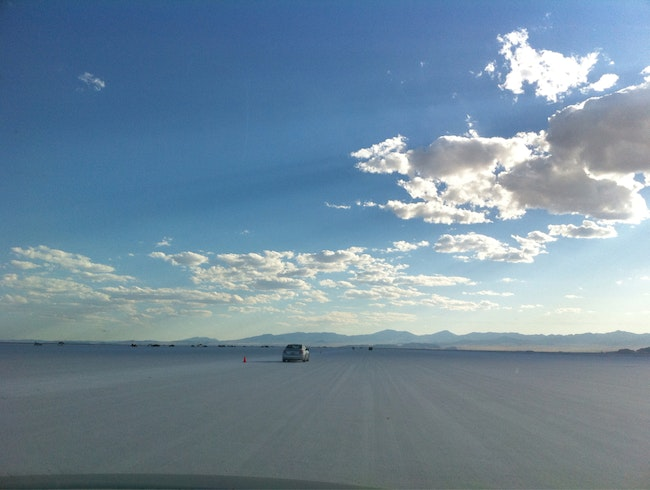 The Salt Flats Of Bonneville During Speed Week