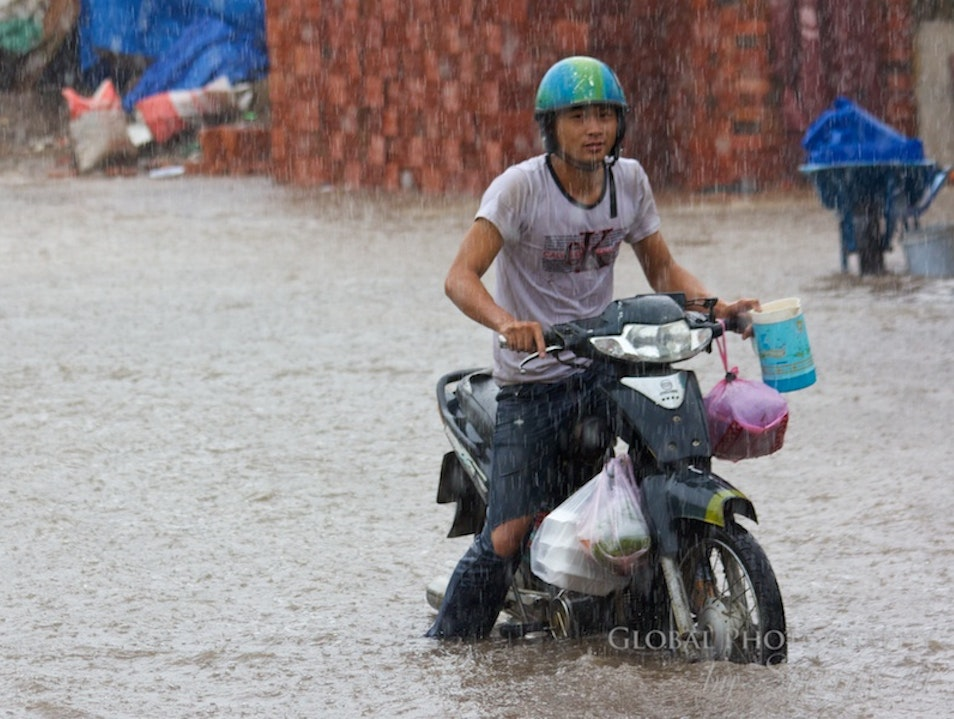 Motorbiking in the Rain! Ho Chi Minh City  Vietnam