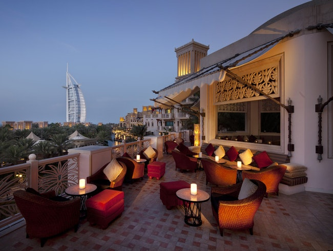 Romantic Arabesque Bar with Arabian Sea Views