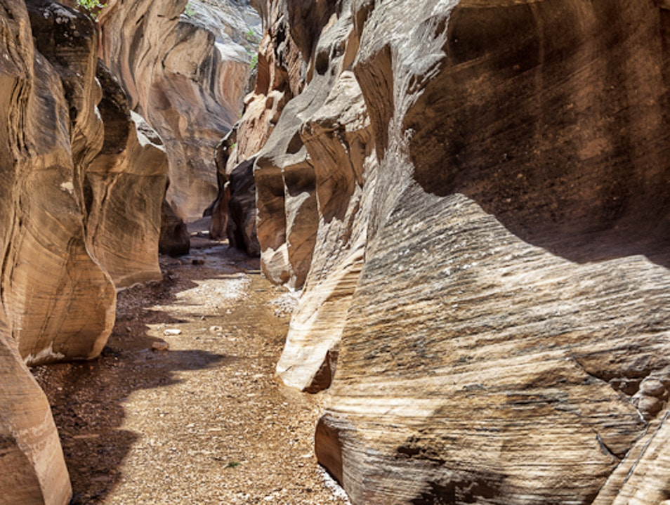 Amazing Slot Canyon off the beaten path Kanab Utah United States
